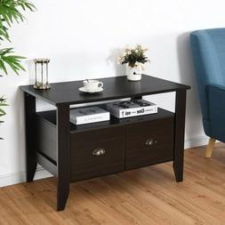 Retro Industrial Wooden Vinyl Record Player Cabinet Stand TV