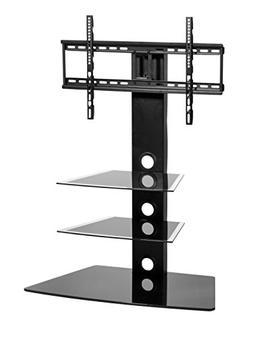 MMT Furniture Designs Rio Black TV Stand - Glass Cantilever