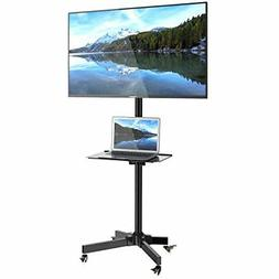 Rolling TV Stand Mobile TV Cart for 3265'' Plasma Screen Mou