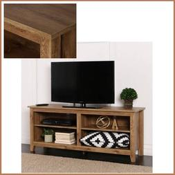 """New Rustic Barn Wood Finish TV Stand to 60"""" Cabinet Media Co"""