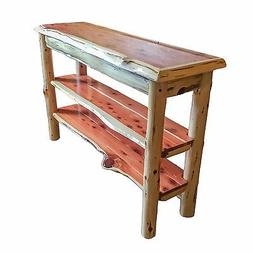 Rustic Red Cedar Log TV STAND or Sofa Table  - Amish Made in