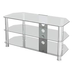 AVF SDC1000CMCC-A Classic - Corner Glass TV Stand  with Cabl