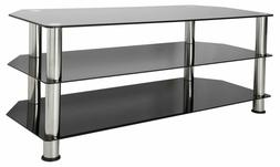 AVF SDC1140-A  TV Stand for up to 55-inch TVs, Black Glass,