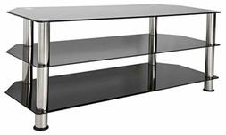 AVF SDC1140-A TV Stand for Up to 55-Inch TVs, Black Glass, C