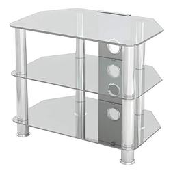 AVF SDC600CMCC-A Classic - Corner Glass TV Stand  with Cable