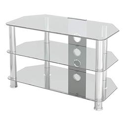 AVF SDC800CMCC-A Classic - Corner Glass TV Stand  with Cable