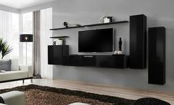 Shift 1 - black living room wall unit / entertainment center