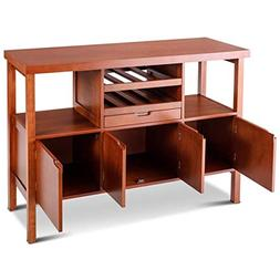 Giantex Sideboard Buffet Cabinet Wood Storage Table Dining R