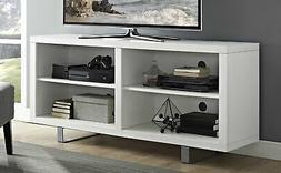 """WE Furniture 58"""" Simple Modern TV Console with Metal Legs -"""