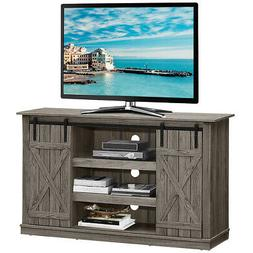 """Sliding Barn TV Stand Console Table for TV's Up to 60"""" Enter"""
