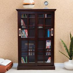 Sliding Cross Door Media Cabinet