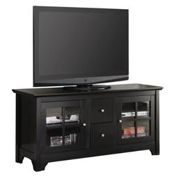 "52"" Solid Hard Wood TV Media Stand Console w/ Two Drawers ,"