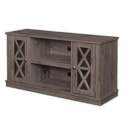 Spanish Gray Finish Azusa Wooden TV Stand Accommodates 55 In