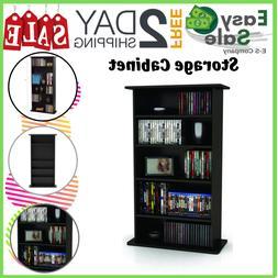 Ess Storage Cabinet Adjustable Shelves Media Organizer CD DV
