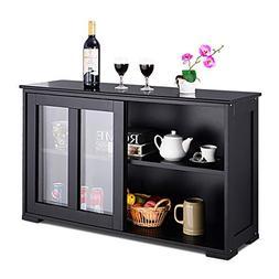 Costzon Kitchen Storage Sideboard, Antique Stackable Cabinet