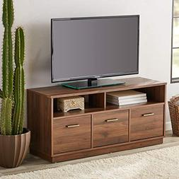 """3-Door TV Stand Storage Cabinet Console for TVs up to 50"""", B"""