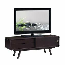 "Techni Mobili Stylish Wood Veneer 55"" TV stand with Door a"