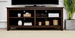 Rockpoint Sumy 58-Inch Corner Wood TV Stand Storage Console,