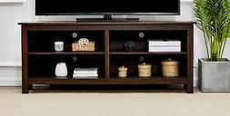 Rockpoint Sumy 58-Inch Corner Wood TV Stand Storage Console,