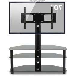 swivel corner floor tv stand with mount