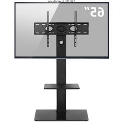 "Swivel Floor TV Stand with Mount for 32""-65"" Flat/Curved Scr"