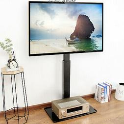 Swivel Floor TV Stand with Mount for 32 37 42 47 50 55 60 65