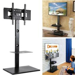 Swivel TV Floor Stand with Two Shelves & Free Cable for 32-6