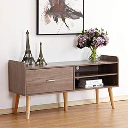 "DlandHome Television Stand 46"" with 2-Shelf & 1-Drawer, Ente"