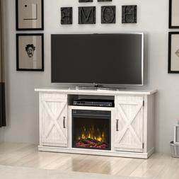 """Terryville White TV Stand for TVs up to 55"""" with Electric Fi"""