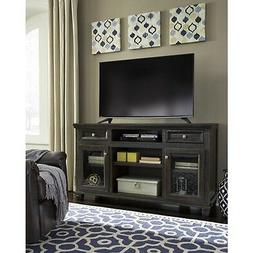 Ashley Furniture Townser Grayish Brown Finish Large TV Telev