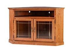 Forest Designs Traditional Corner TV Stand with Glass Doors,