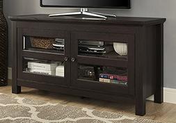 44 in. Traditional TV Stand Console in Espresso Finish