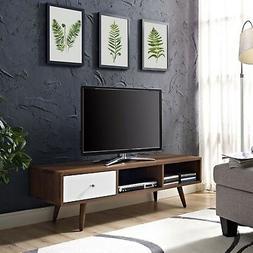 Modway Transmit Mid-Century Modern Low Profile 55 Inch TV St