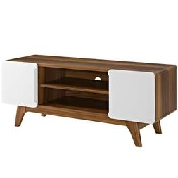 Modway Tread Mid-Century Modern 47 Inch TV Stand in Walnut W