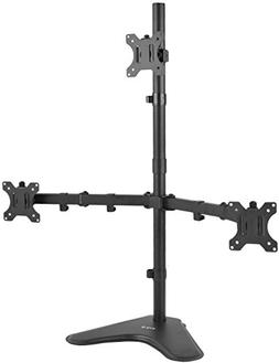 VIVO Triple LCD LED Computer Monitor Desk Stand Free Standin