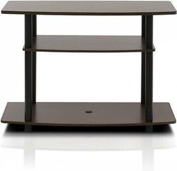 Turn-N-Tube No Tools 3-Tier TV Stand Espresso/Black