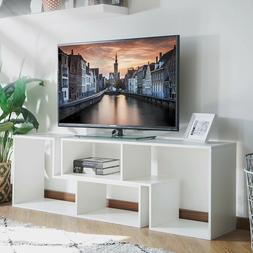TV Cabinet Console+Bookcase w/4 Convertible Type Modern Stan