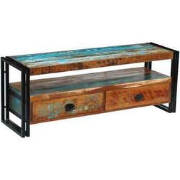 vidaXL TV Cabinet Solid Reclaimed Wood Display Stand Enterta