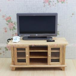 TV Cabinet Stand Table Dollhouse Miniatures 1:12 Wood Furnit