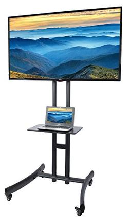 VIVO TV Cart for LCD LED Plasma Flat Panel Stand Mount w/ Mo