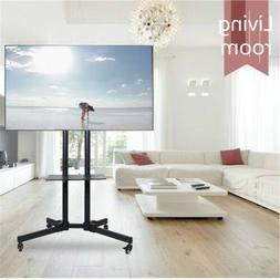 TV Cart for LCD LED Plasma Flat Panels Stand with Wheels Mob