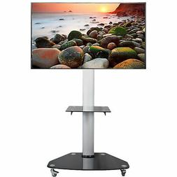 VIVO TV Cart for LCD LED Plasma Flat Panels Stand with Wheel