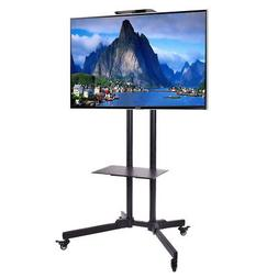 TV Cart Stand Plasma LCD LED Flat Screen Panel w/ Wheels Mob