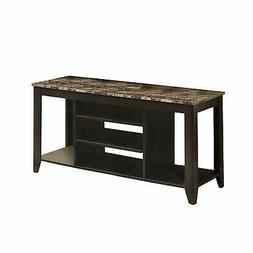 Monarch Specialties Top Length TV Console, 48-Inch, Cappucci