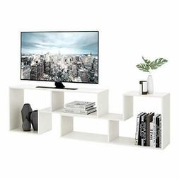 TV Console Stand, Modern Entertainment Center Media Stand, T
