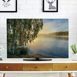 iPrint LCD TV Cover Lovely,Nature,Sunny Day by Misty Lake wi