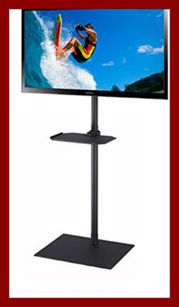 Elitech TV Portable Floor Stand with Middle Shelf and Height