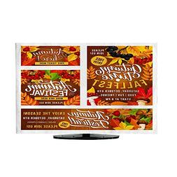 TV Dustproof Cover ClothVector Thanksgiving Day Fest Posters