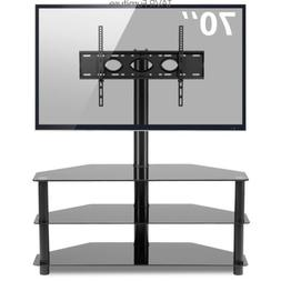 Swivel Glass TV Stand for 32-70 inch LED LCD Plasma Flat Scr