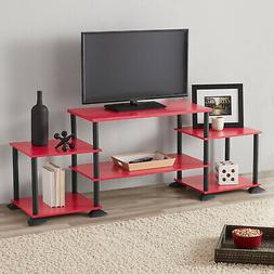 TV Media Stand 3-Cube Entertainment Center No-Tool Assembly